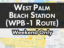 West Palm Beach Station - Weekend Only (WPB-1 Route)